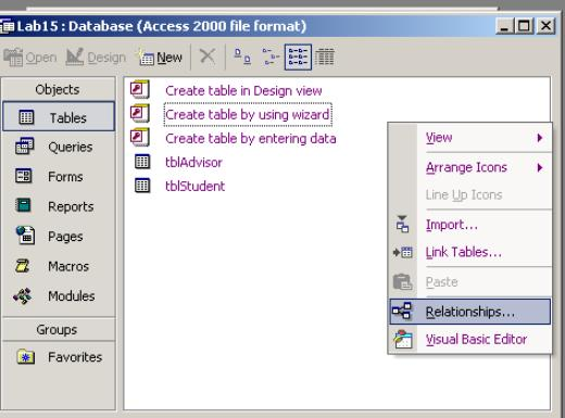 FIT 100 Lab: Introduction to MS Access: Tables and ERD's