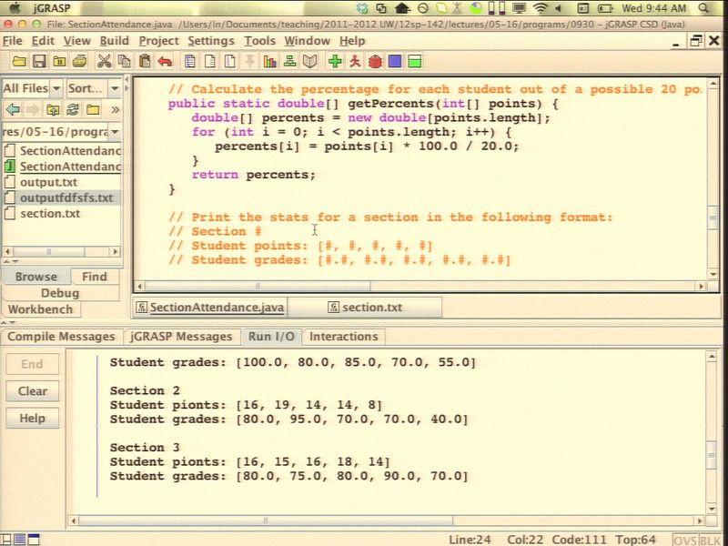 screencast: CSE142A - 2012-05-16