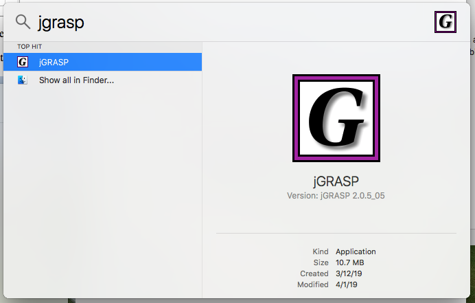 Installing jGRASP