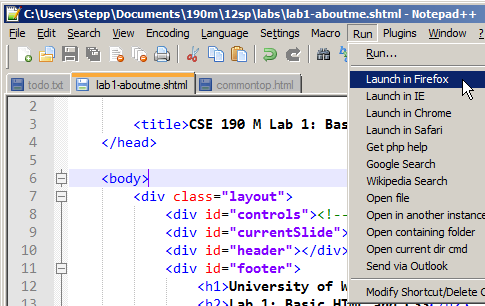 CSE 154 Lab 1: Basic HTML and CSS