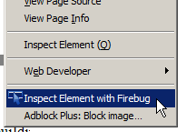 Exercise : Firebug/Chrome Web Inspector
