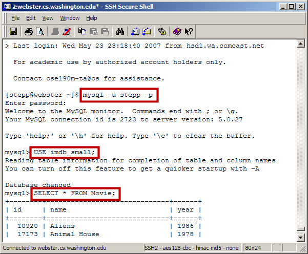 CSE 190 M Lab 9 (SQL)