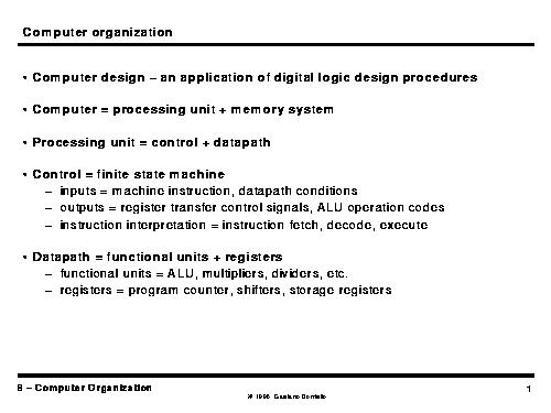 Computer Organization Page P001 Html