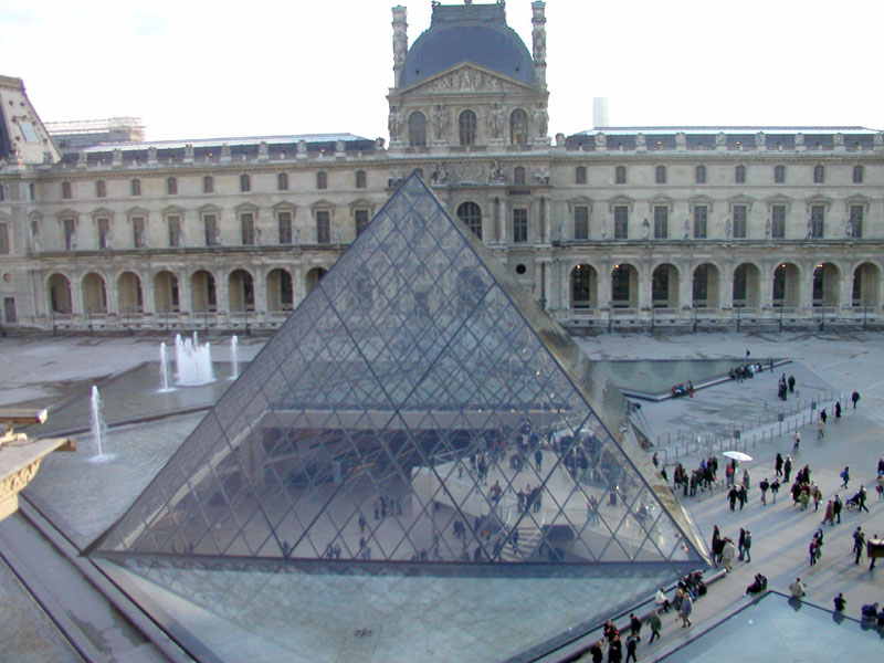Louvre Pyramid Paris on 455 html
