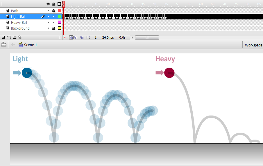how to make more frame in between in animaation adobe