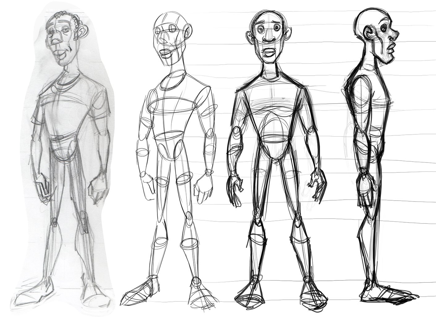 Character Design Side View : Cse assignment
