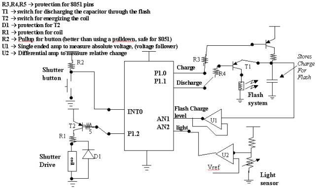 Problem 1 complete the schematic for this digital camera: Digital Camera Circuit Diagram at e-platina.org
