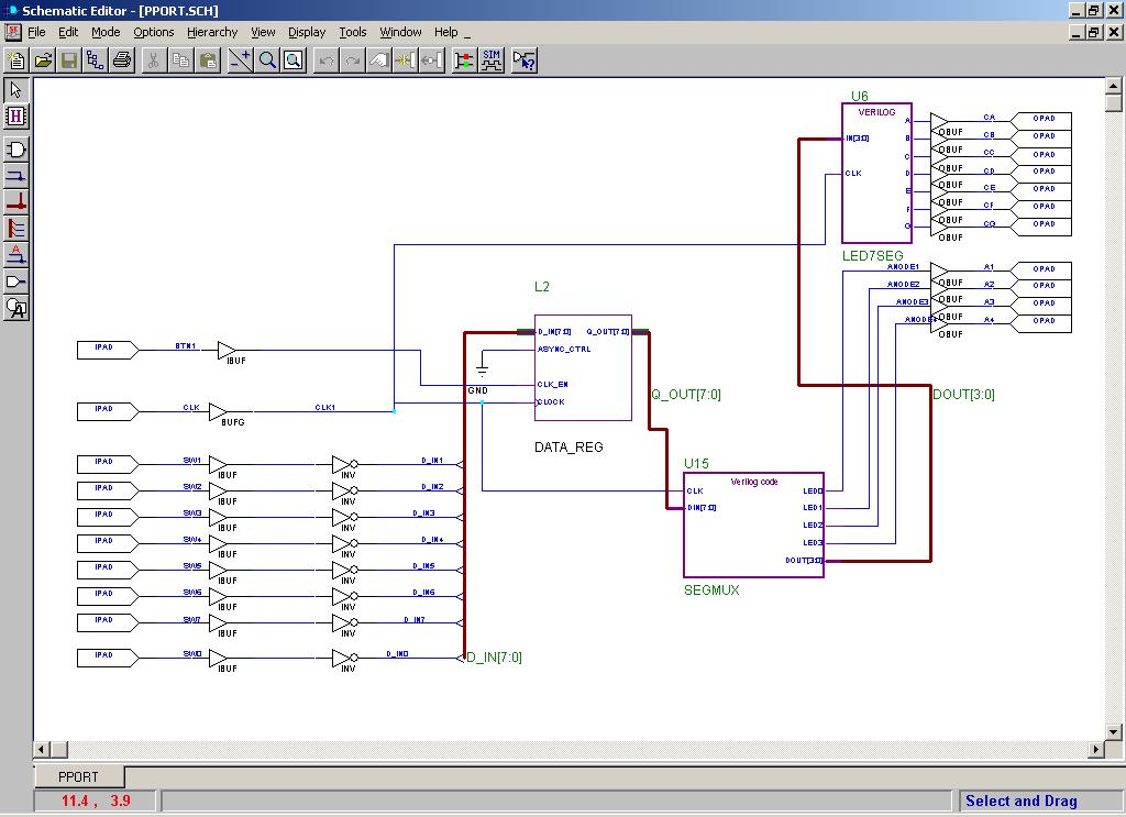 Lab 1, due 1/15 Xilinx Schematic on