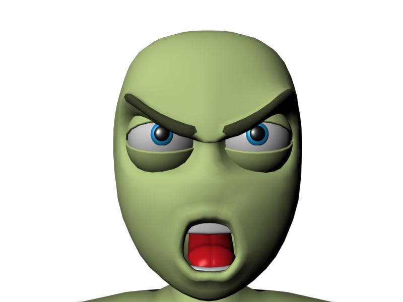 Exemplos de animações faciais – Emoções primárias.