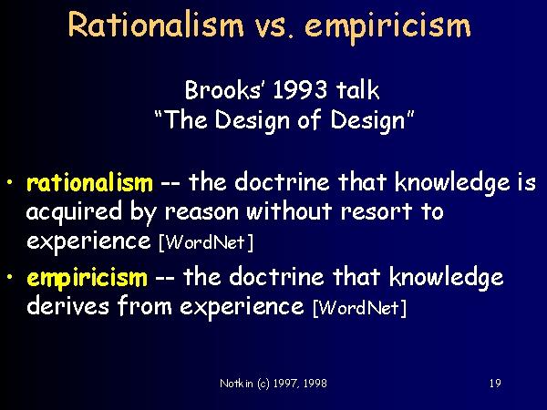 empiricism and rationalism essay